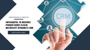 Infografía: 10 Razones porqué debes elegir Microsoft Dynamics CRM